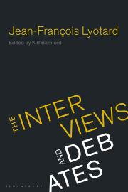 J-F Lyotard: The Interviews and Debates